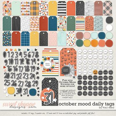 October Mood Daily Tags by Traci Reed