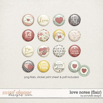Love Notes Flair by Ponytails