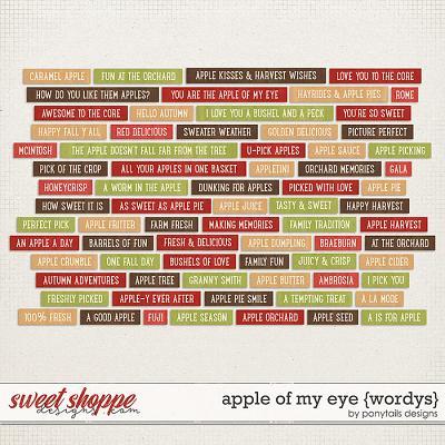 Apple of My Eye Wordys by Ponytails