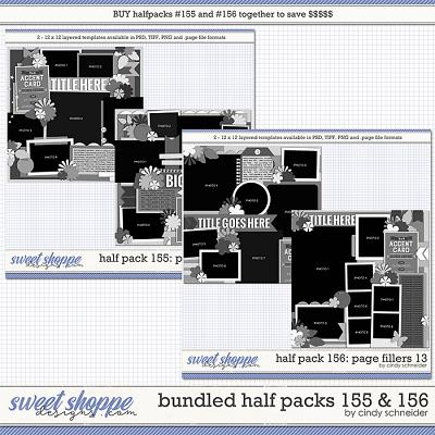 Cindy's Layered Templates - Bundled Half Packs #155-156 by Cindy Schneider