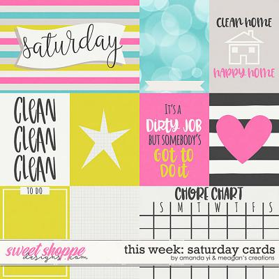 This Week: Saturday - Cards by Amanda Yi & Meagan's Creations