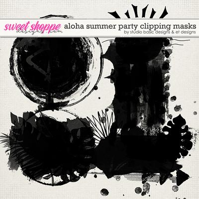 Aloha Summer Party Clipping Masks by Studio Basic and et designs