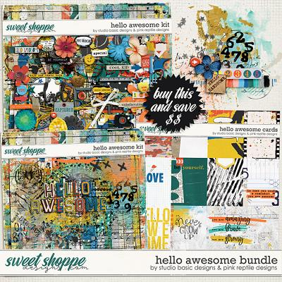 Hello Awesome Bundle by Studio Basic & Pink Reptile Designs