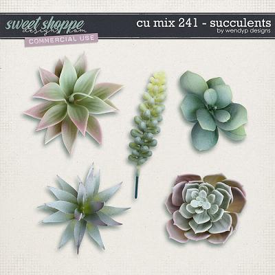 CU Mix 241 - Succulents by WendyP Designs
