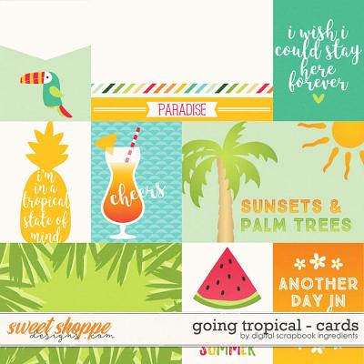 Going Tropical | Journal Cards by Digital Scrapbook Ingredients
