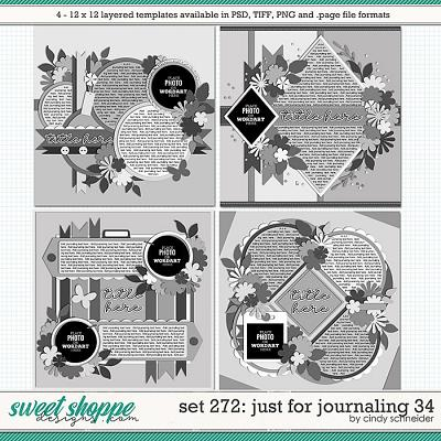 Cindy's Layered Templates - Set 272: Just for Journaling 34 by Cindy Schneider
