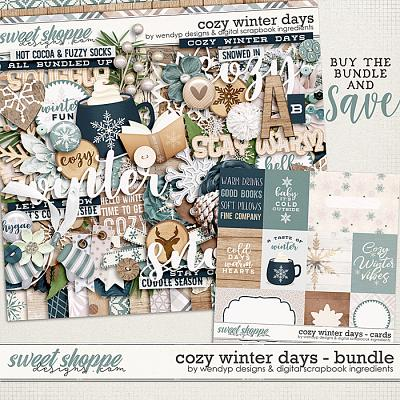 Cozy winter days - Bundle by Digital Scrapbook Ingredients & WendyP Designs