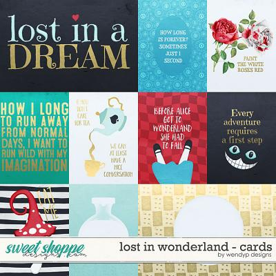 Lost in wonderland - cards by WendyP Designs
