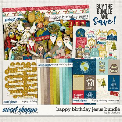 Happy Birthday Jesus Bundle by LJS Designs