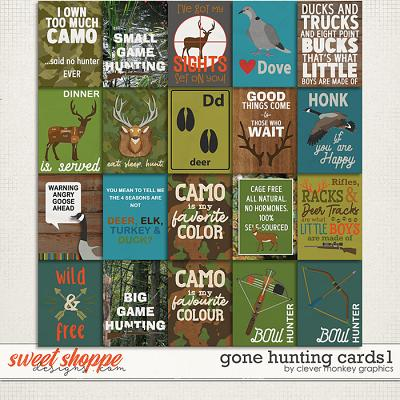 Gone Hunting Cards1 by Clever Monkey Graphics