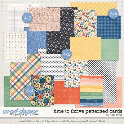 Time to Thrive Patterned Cards by Traci Reed