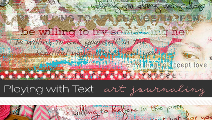 playing-with-text-in-an-art-journal-layout