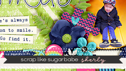 Scap Like a Sugarbabe: Sherly from www.sweetshoppedesigns.com (a visual tutorial on how store creative team member Sherly creates her scrapbook pages.)