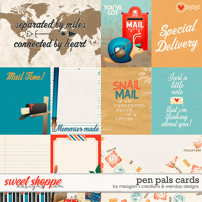 Pen Pals - Cards by Meagan's Creations & WendyP Designs