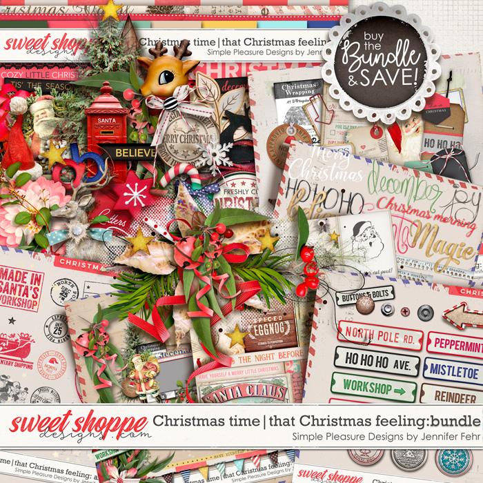 Christmas time   that Christmas feeling mega bundle: simple pleasure designs by jennifer fehr