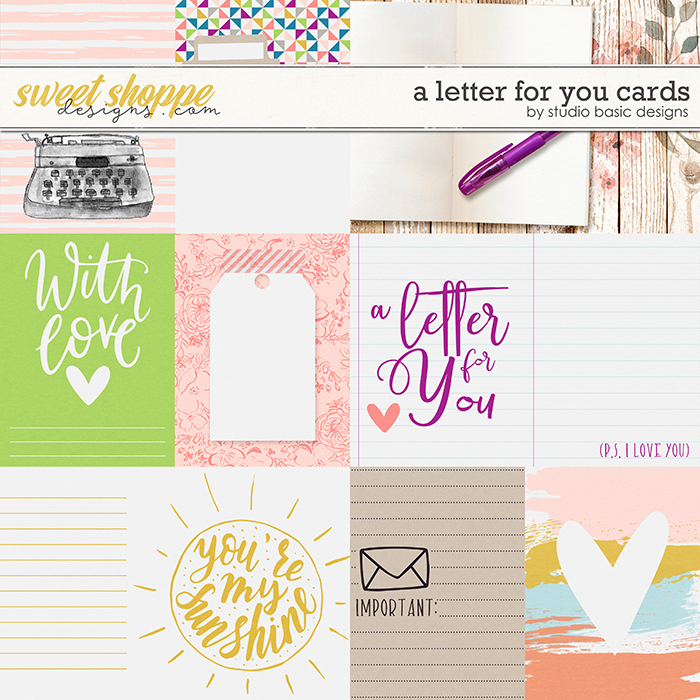 A Letter For You Cards by Studio Basic