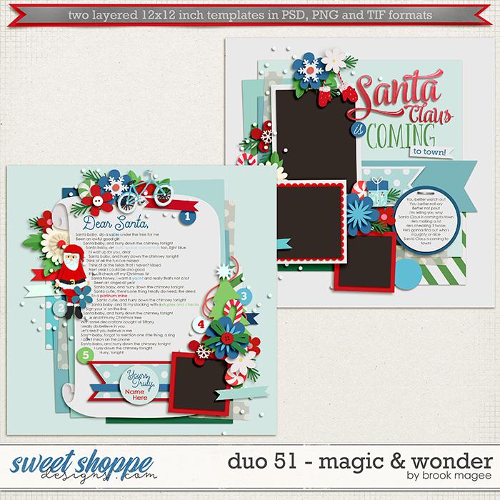 Brook's Templates - Duo 51 - Magic & Wonder by Brook Magee