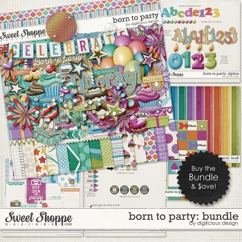 Born to Party by Digilicious Design
