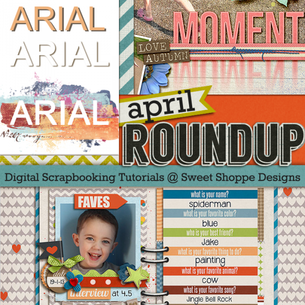 April Tutorial Roundup from Sweet Shoppe Designs